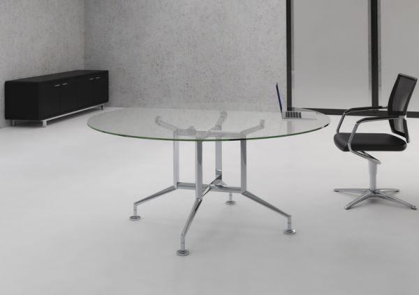 Glass Boat Shaped Boardroom Table Park Royal Office Furniture - Glass boardroom table