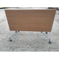 Virco Beech Interlocking Flip Top Table