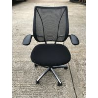 Human Scale Operator Chair with Chrome Base