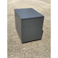 Grey 2 Drawer Pedestal