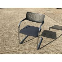 Vitra Black & Chrome Visitor Chair
