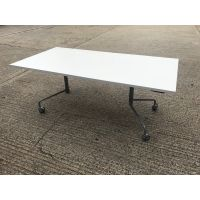 Virco White Flip Top Table