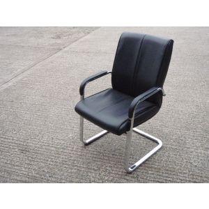 Black & Chrome High Back Executive Cantilever Chair