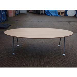Beech Oval Boardroom Table 2400 x 1200