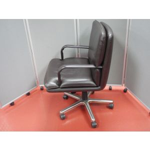 American Brown Leather Conference Chair