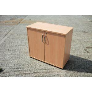 Beech Desk High Storage Cabinet