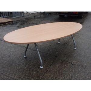 Beech Oval 2400 x 1200 Boardroom Table