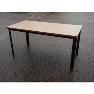 Beech Table 1500x750, Black Folding Frame
