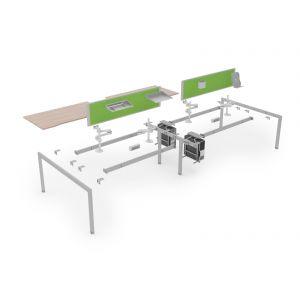 8 User 4800 Double Bench Lite System 1600 Leg Frame