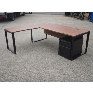 Bene Executive Desk with Return and Mobile Pedestal