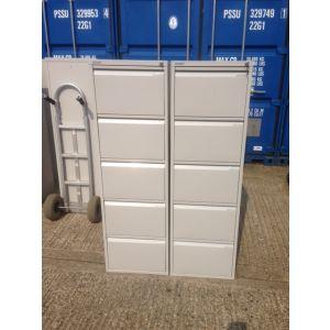 Bisley Grey 5 Drawer Filing Cabinet