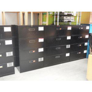 Black 4 Drawer Sidefilers