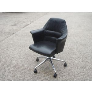 Black Tub Style Boardroom Chairs