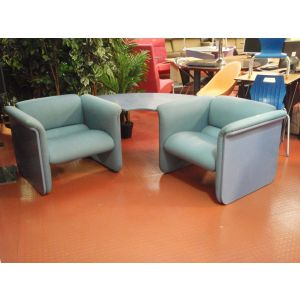 Blue Corner Seating Unit