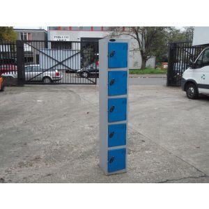 Blue - Grey Single 5 Door Lockers