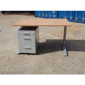 Cantilever Desk 1200 x 800 with Mobile Pedestal