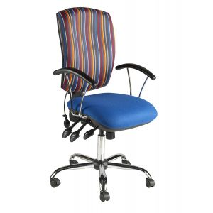 Chrome Task Chairs Fixed Arms