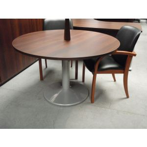 Dark Walnut 1200 Dia Pedestal Base Table