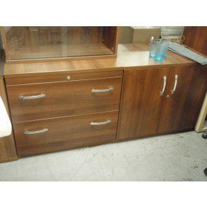 Dark Walnut 2 Door Storage Cabinet