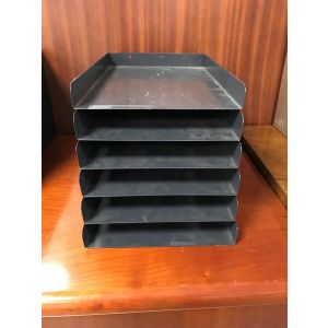 Dark Blue Metal In - Out Tray