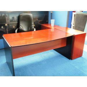 Desk and Side Credenza