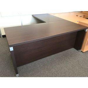 Executive Walnut Desk With Return