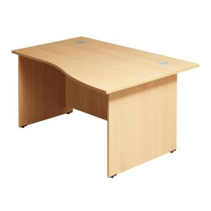 CLM Beech Fast Track 1400 x 1000 Desk