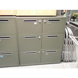 Green 6 Door Post Style Cabinets