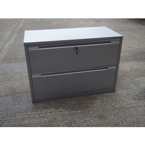 Grey 2 Drawer Side Filer