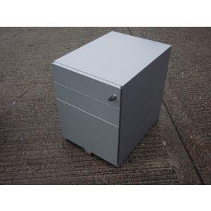 Grey Flush Fronted Mobile Pedestal