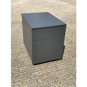 Grey 2 Drawer Pedestal