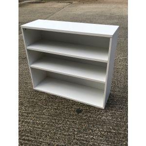 White Open Bookcase