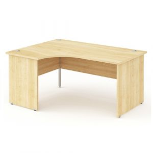 Impulse Maple Panel End Crescent Desk 1612