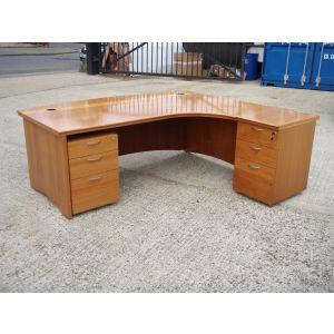 Large Executive Desk with Desk High Pedestal and Mobile Pedestal