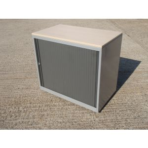 Low Tambour Storage Cabinet