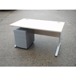 Maple 1400 x 800 Desk and Pedestal