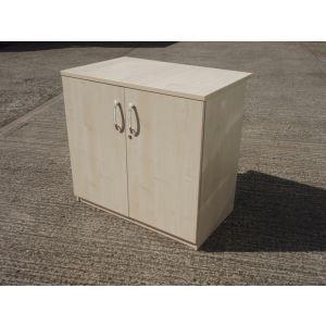 Maple Desk High Storage Cabinet