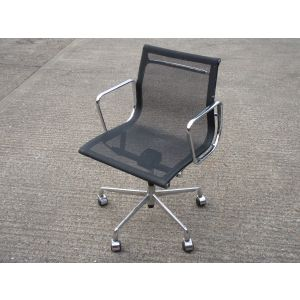 Mesh and Chrome Desk Chair