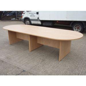 New Oak 3200 Boardroom Table