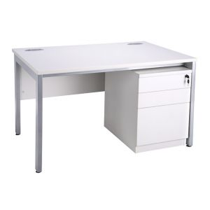 1280 Freestanding Bench Desking With Mobile Pedestal