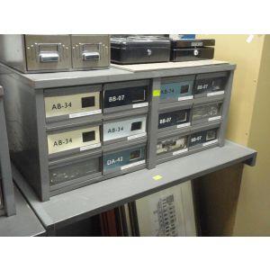 Old Grey Micro Film Storage Cabinet