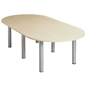 Maple 2400 x 1200 Oval Meeting Room Table