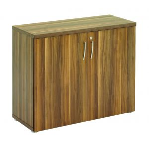 Regent Low Dark Walnut 2 Door Storage