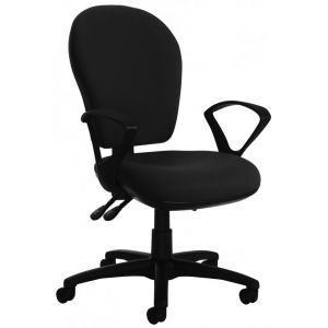 Round Back Operator Chair with Adjustable Arms