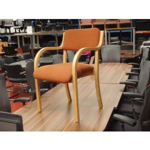 Rust Meeting Room Chair with Arms
