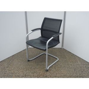 Sedus Mesh Back Leather Seat Meeting Chair