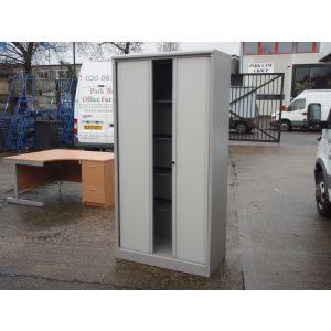 Tall Tambour Storage Cabinet