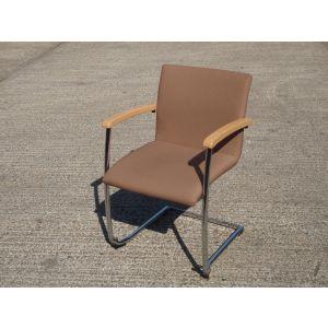 Tan Cantilever Reception Chair