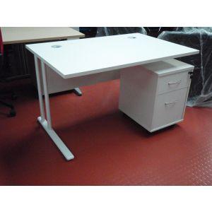 TC 1200 Rectangular Cantilever Workstation & Mobile Pedestal