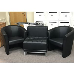 Leather Tub Seating